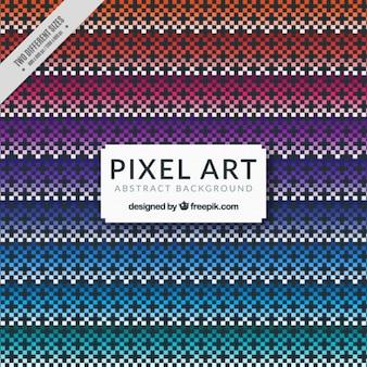 Arrière-plan décoratif de pixels colorés