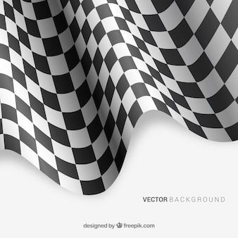 Arrière-plan de drapeau à damier avec un design réaliste
