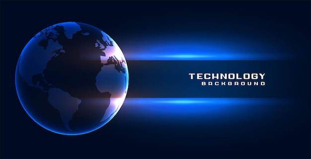 Arrière-plan du concept de la technologie mondiale de la terre