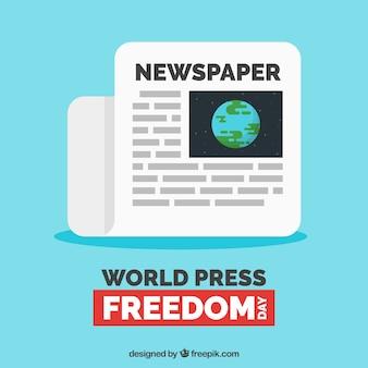 L'arrière-plan du journal pour la journée mondiale de la liberté de la presse