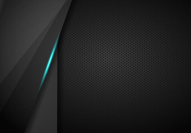 Arrière-plan du modèle abstrait tech bleu métallique mise en page moderne tech design