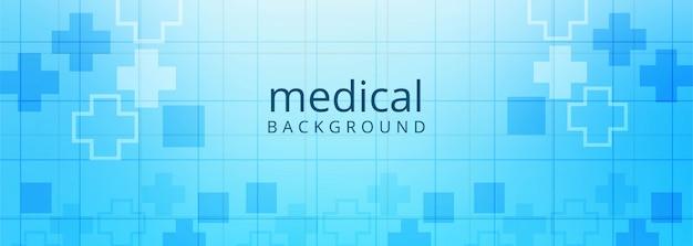 Arrière-plan du modèle de bannière de soins de santé et médical
