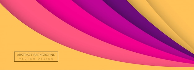 Arrière-plan du modèle de bannière vague colorée élégante papercut