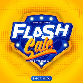 Arrière-plan du modèle de bannière de vente flash
