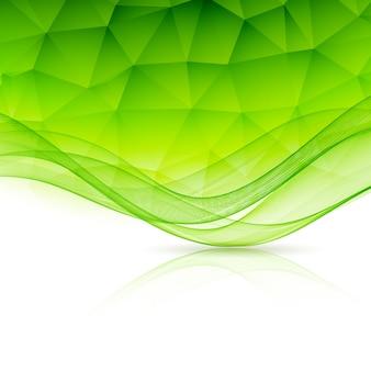 Arrière-plan du modèle de couleur abstraite avec vague et low poly