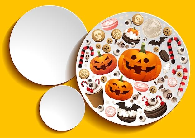 Arrière-plan du modèle halloween pumpkins.