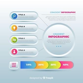 Arrière-plan du modèle infographique plat