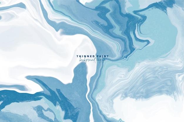 Arrière-plan avec effet de peinture diluée dans les couleurs bleu et blanc
