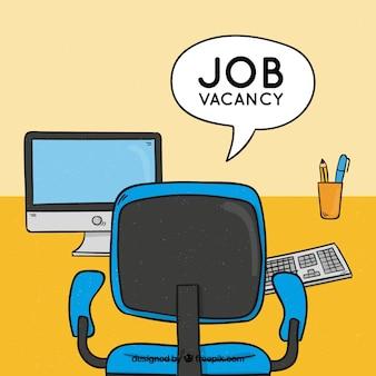 Arrière-plan d'emploi avec bureau