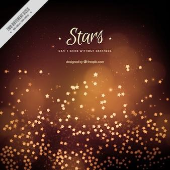 Arrière-plan avec des étoiles et bokeh