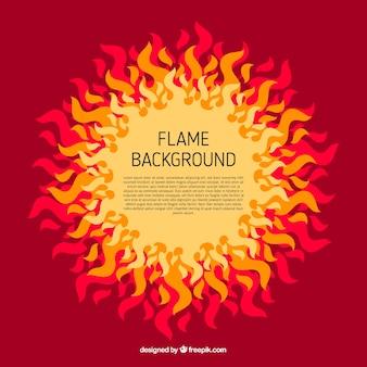 Arrière-plan avec des flammes décoratives