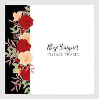 Arrière-plan floral bouquet rose