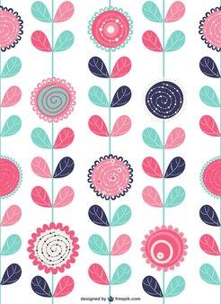 Arrière-plan floral décoratif