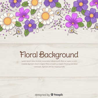 Arrière-plan floral dessiné à la main