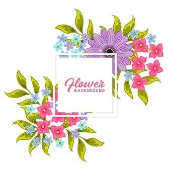 Arrière-plan floral vector