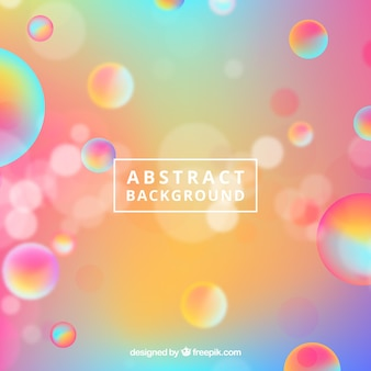 Arrière-plan flou abstrait avec des bulles