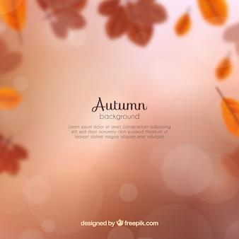 Arrière-plan flou d'automne