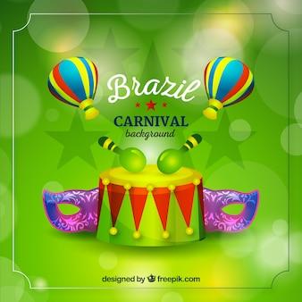 Arrière-plan flou brésilien carnaval