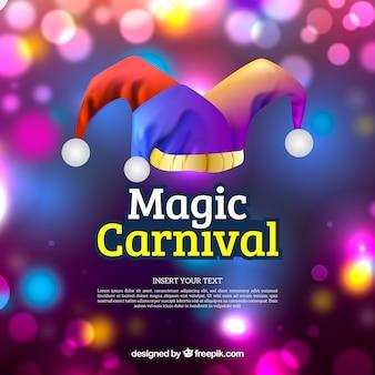 Arrière-plan flou de carnaval