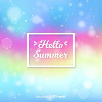 Arrière-plan flou coloré bonjour l'été