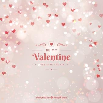 Arrière-plan flou de la Saint-Valentin en blanc