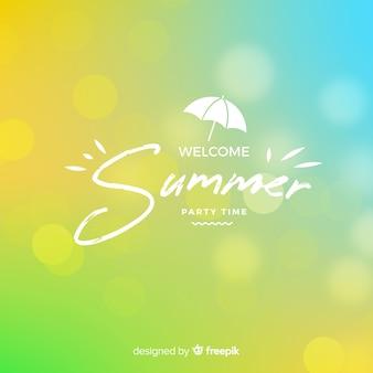 Arrière-plan flou de l'été