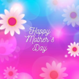Arrière-plan flou de la fête des mères avec des fleurs