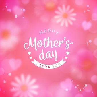 Arrière-plan flou de la fête des mères