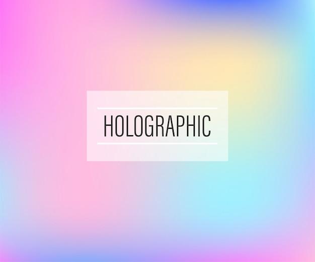 Arrière-plan flou de feuille holographique irisée abstraite.