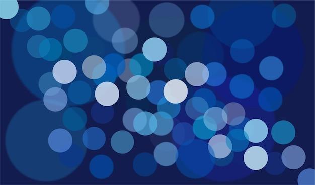 Arrière-plan flou flou de lumières bleues