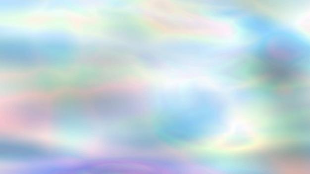 Arrière-plan flou holographique coloré dans des couleurs néon, papier peint tendance - texture de papier d'aluminium