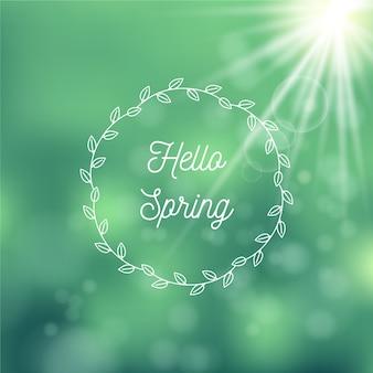 Arrière-plan flou de printemps