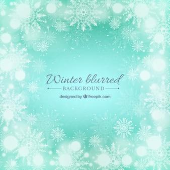 Arrière-plan flou turquoise hiver