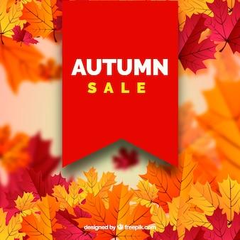 Arrière-plan flou de vente automne