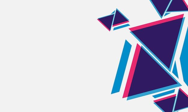 Arrière-plan de forme de triangles abstraits. modèle pour affiche, bannière.