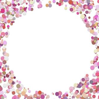 Arrière-plan géométrique aléatoire de points - conception de vecteur de cercles colorés avec un espace vide au milieu