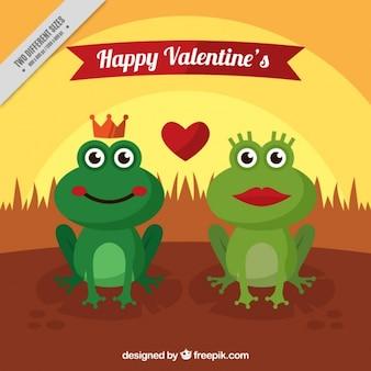 Arrière-plan de grenouilles dans l'amour