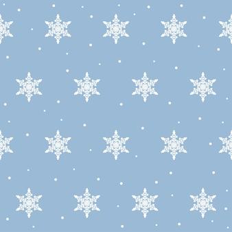 Arrière-plan harmonieux de flocon de neige pour le papier peint d'hiver de conception, invitation de vente saisonnière, papier d'emballage de vacances, textile en tissu, vêtement, etc.