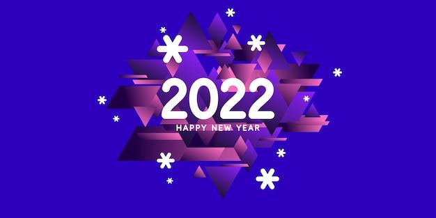 Arrière-plan avec l'inscription happy new year 2022 vector illustration dans un style plat et plat