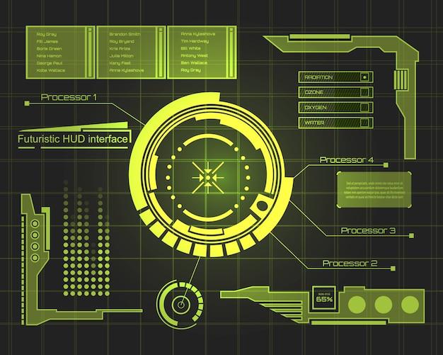 Arrière-plan de l'interface utilisateur tactile futuriste.