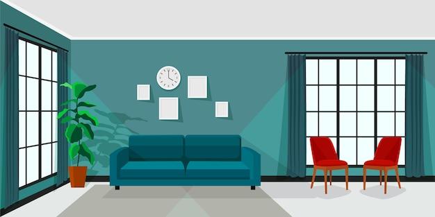 Arrière-plan intérieur de la maison pour la vidéoconférence