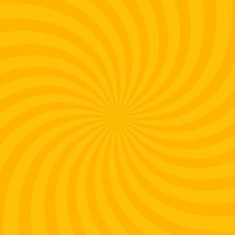 Arrière-plan jaune vif tourbillonnant radial. illustration vectorielle pour la conception de tourbillons. carré de tourbillon en spirale en étoile vortex. rayons de rotation d'hélice. rayures évolutives. faisceaux de lumière du soleil amusants.