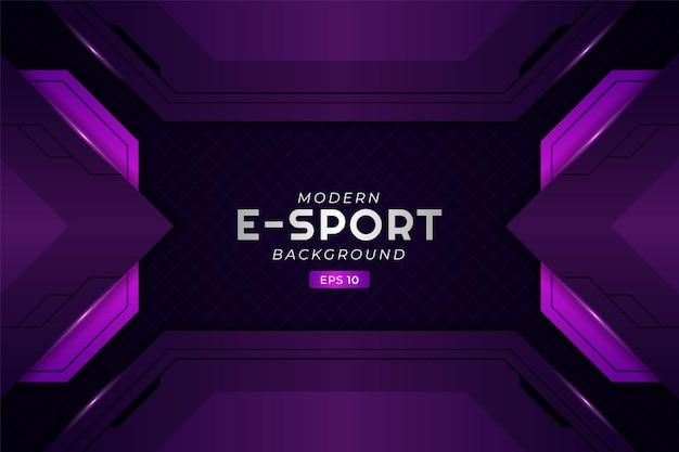 Arrière-plan de jeu e-sport moderne, technologie de prime futuriste violet brillant