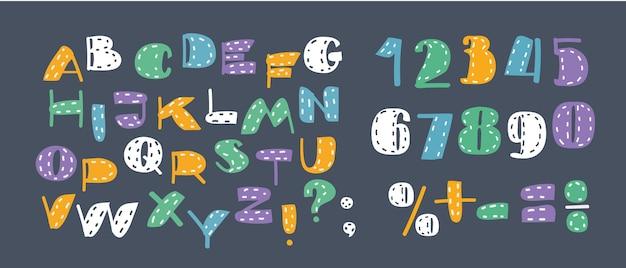 Arrière-plan avec jeu de lettres latines décoratives