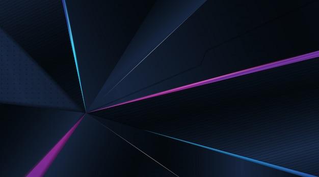 Arrière-plan de jeu résumé moderne 3d bleu foncé
