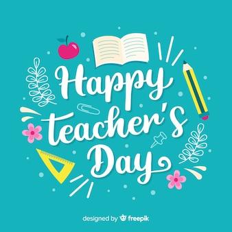 Arrière-plan de la journée mondiale des enseignants