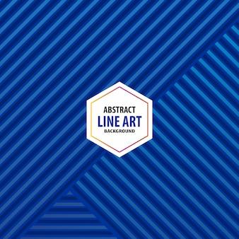 Arrière-plan de ligne bleue abtract