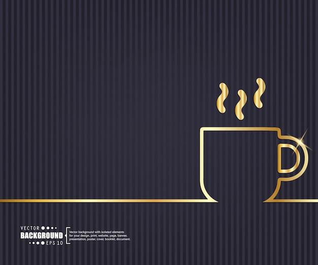 Arrière-plan de ligne concept créatif.