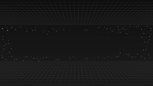 Arrière-plan de la ligne rétro noire