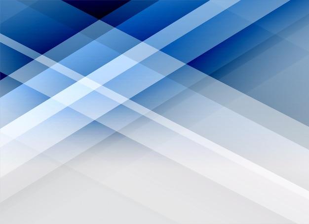Arrière-plan de lignes abstraites bleu business style